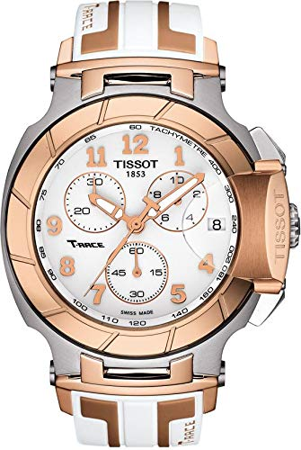 Tissot T-Race White Dial SS Silicone Chrono Quartz Men's Watch T0484172701200 (White Watch Tissot)