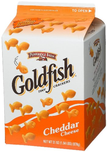 (Pepperidge Farm Cheddar Goldfish Baked Snack Crackers Large 31 Ounce)