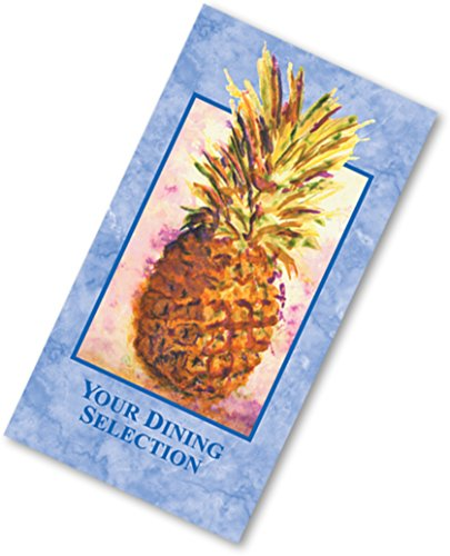 Dinex DX6SM021000 Aloha 3 Panel Perforated Printable Menu Form8.5'' x 14''No Headings, 0.01'' Height, 8.5'' Width, 14'' Length, Paper (Pack of 2000) by Dinex