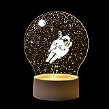 Ornerx Astronaut 3D Illusion Lamp LED Night Light Gifts Home Decor