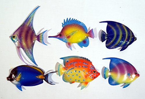 Handpainted C-A Gliter Cartoon Tropical Fish Wall Mount Decor Plaque 6