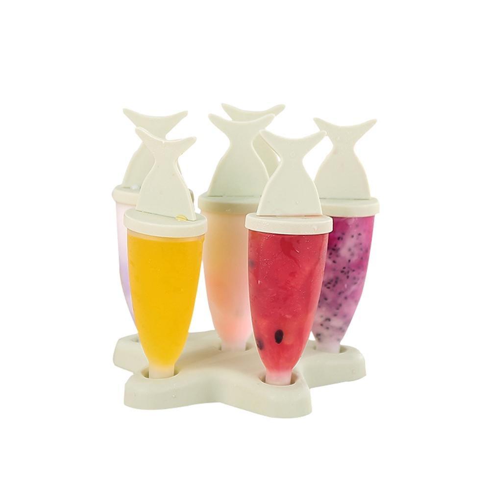 Compra Juego de 6 moldes de plástico para hacer paletas de hielo Pawaca, moldes de plástico para helado, moldes de helado para niños, moldes de palomitas ...