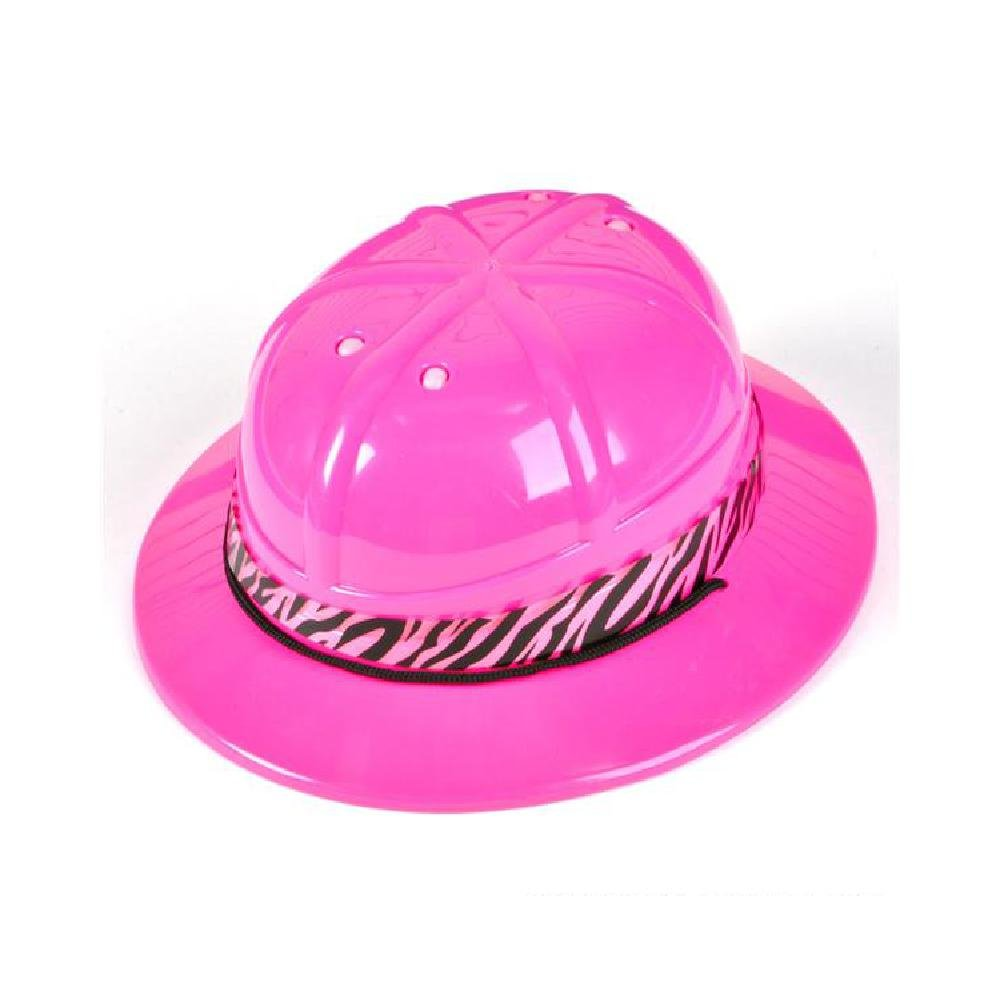 Pink Safari Hat With Zebra Band by Bargain World