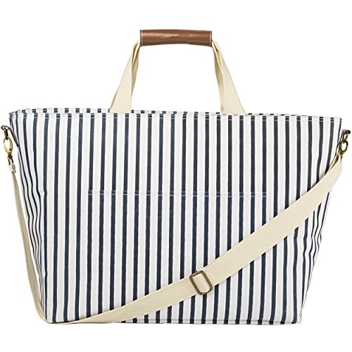 Cathy's Concepts Striped Cooler Bag Navy (Striped Cooler)
