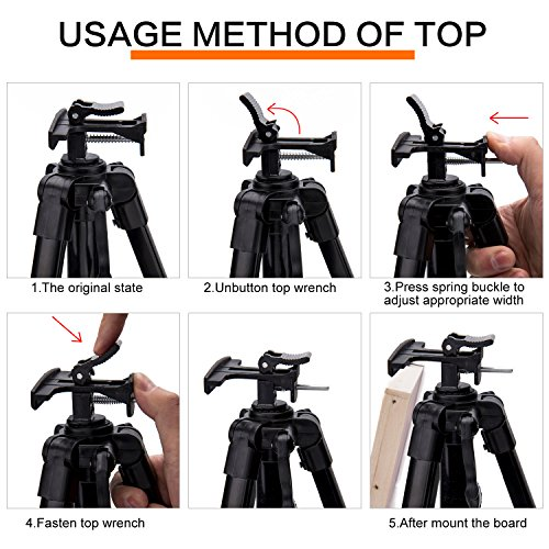 63 inch art tripod easel stand adjustable aluminum floor easels for