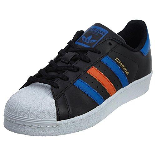 best website 2e2d4 ac6d4 Galleon - Adidas Originals Superstar J, Cblack,Blue,Ftwwht, 6 Medium US