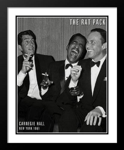 Rat Pack - Carnegie Hall 25x29 Framed and Double Matted Art Print. - Rat Pack Artwork
