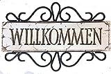 German Willkommen Welcome Sign