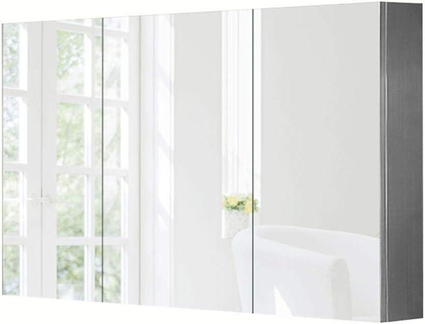 Armarios con espejo para Cuarto de baño con Puerta Pared Acero ...