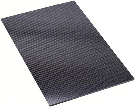 SOFIALXC 3K Feuille De Fibre De Carbone 100/% Carbon Board Plaque De Stratifi/é Finition Twill Mat,250x500mm,0.5mm