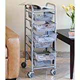 Seville Classics 6-Drawer Steel Mesh Multipurpose