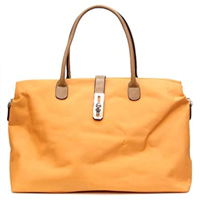 e0ceabbd6045 Amazon.com  Tosca Oversize Nylon Travel Tote Handbag Detachable Shoulder  Strap (Dark Orange)  Shoes