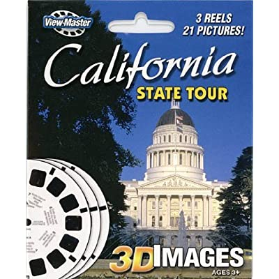 ViewMaster 3Reel Set - California State Tour - 21 3D Images: Toys & Games
