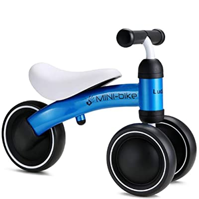 LGQ Baby Balance Bikes, Mini Bicycle Toddler Bike,Toddler Bike 6-24 Months No Pedal Bicycles Four Wheeled Vehicle Infant for Children's First Birthday (Multiple Colors Available),Blue: Sports & Outdoors