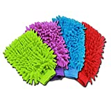 Zento Deals Random Colorful Micro Fiber Wash Mitten
