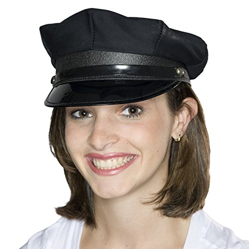 Black Police/Chauffeur Hat (Green Hornet And Kato Halloween Costumes)