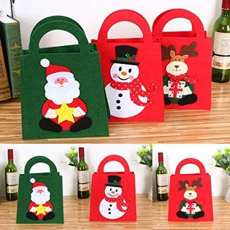 Santa Claus Christmas Candy Bag Elf Elk Pants Treat Pocket Home Party Gift Decor - Decorative Decorative