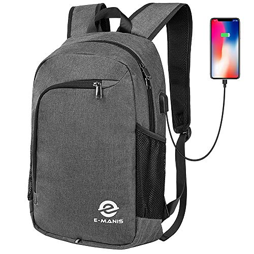 Laptop Backpack,Business Anti Theft Slim Durable Laptops Backpack with USB Charging Port,Water Resistant College School Computer Bag for Women & Men Fits 15.6 Inch Laptop and Notebook ()