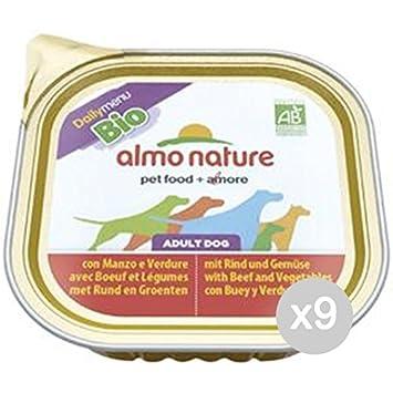 Almo nature Juego 9 Perro 331 Bandeja 300 Bio Pate Manzo Ver Alimento para Perros