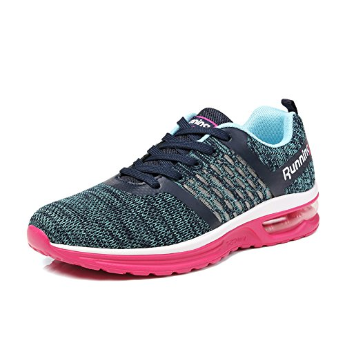 TORISKY Homme Femme Baskets Sneakers Chaussures de Course Sports Athlétique Casual Fitness Gym Running Shoes Rose
