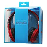Reiko Overhead Earphone 3.5 mm with Mic - Retail Packaging - Red