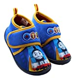 Thomas The Train Blue and Yellow Toddler Daycare Slippers (11-12 M US Toddler)