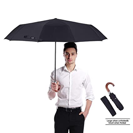 0bbac906924a vilapur Windproof Travel Umbrella Automatic Folding Golf Umbrellas Auto  Open Close Men/Women, Unbreakable Lightweight 10 Ribs Automatic Windproof  ...