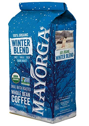 Mayorga Organics Dark Roast, USDA Certified Organic, Winter Blend, 2 LB (Limited Edition)