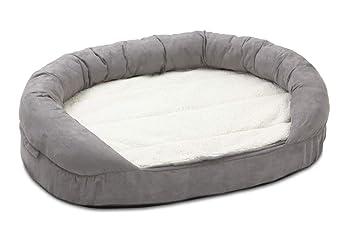 Karlie 68416 Ortho Bed Oval Cama de Perro, Gris, 120 x 72 x 24