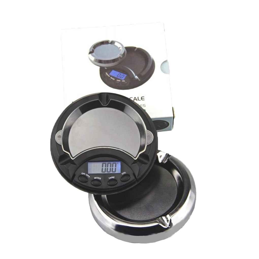 LUFA Fish Mini/LCD Display Digital Scale Ashtray Pocket digital scale ashtray scale Jewelry Gold Herbs Weighing 0.1//0.01g Accuracy