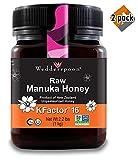 Wedderspoon Raw Premium Manuka Honey KFactor 16, Unpasteurized, Genuine New Zealand Honey, Multi-Functional, Non-GMO Superfood, 35.2 oz, 2 Pack