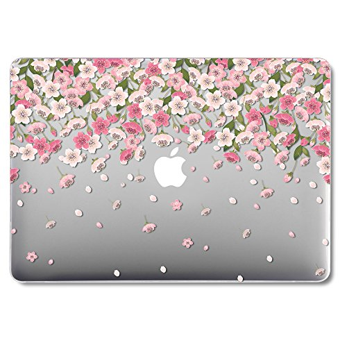 GMYLE MacBook Air 13 Inch Case (2010-2017 Release), Hard Plastic See Through Clear Glossy Scratch Guard Cover for Apple MacBook Air 13.3 inch (Model: A1369 & A1466) - Cherry Blossom Floral