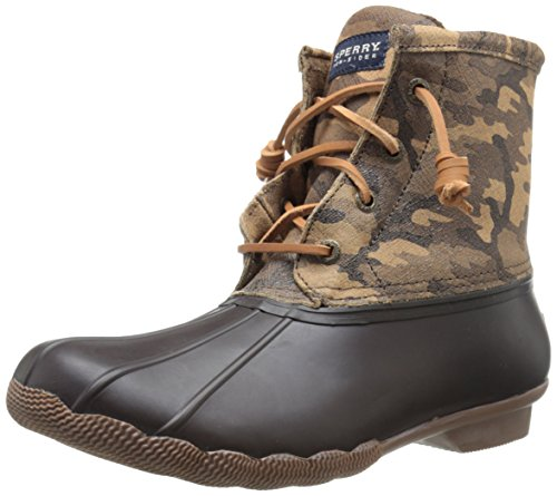 Sperry Top-Sider Women's Saltwater Boot, Brown Camo, 5 M US