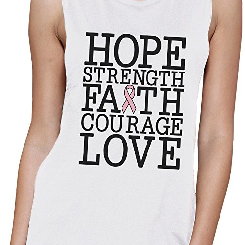 Unique Taille Printing Manche 365 Hope Sans Breast Faith Femme Cancer Pull Love Strength HxX1Y