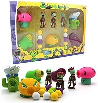 Plants vs Zombies Package Set: 5 Plants 3 Zombies 10 foam balls (Style 2)
