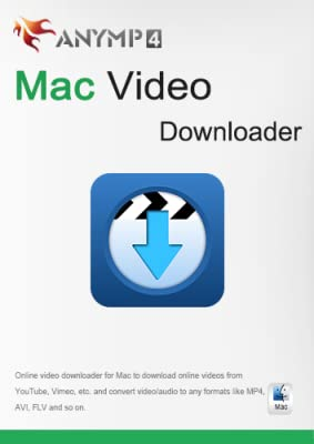AnyMP4 Mac Video Downloader 1 Year License - Download and convert online videos from YouTube, Vimeo, Metacafe, Facebook, Vevo, Yahoo, etc. on MacBook Air/Pro [Download]