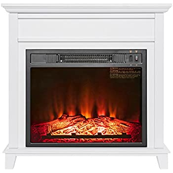 Amazon Com Akdy 27 Quot Electric Fireplace Freestanding White