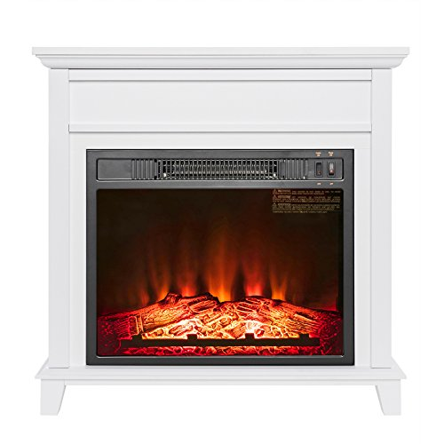 AKDY 23 AK-EF05-23R Black Electric Firebox Fireplace Heater