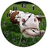 10.5'' FUNNY COW FARM CLOCK - Large 10.5'' Wall Clock - Home Décor Clock