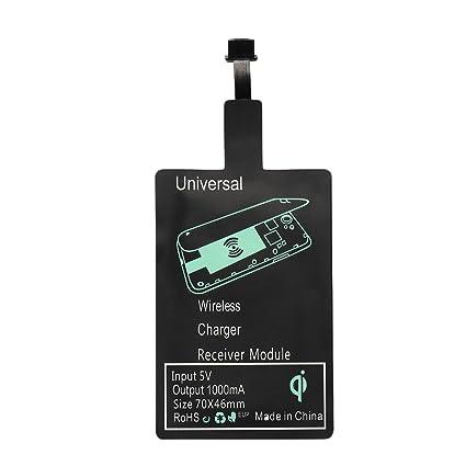 Amazon.com: Cewaal Qi receptor Cargador inalámbrico/Type-C ...