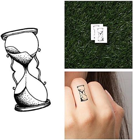 Tatuaje Temporal Tattify - Reloj de arena - El tiempo vuela (juego ...