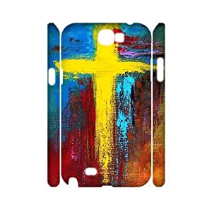 lintao diy case Of Cross Customized Hard Case For Samsung Galaxy Note 2 N7100