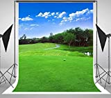 5X7FT Green Golf Themed Course Photography Backgrounds Portrait Cloth Computer Printed Scenic backdrops DD-HG-503
