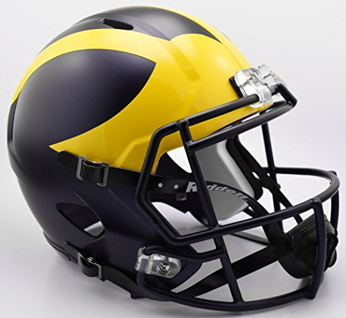 - Riddell NCAA Michigan Wolverines Helmet Full Size Replica, One Size, Team Color