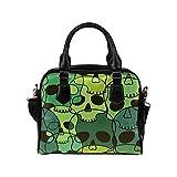 Sugar Skull Dia De Los Muertos Women's PU leather Shoulder Bag Handbag