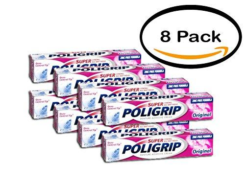 PACK OF 8 - Poligrip Super Original Denture Adhesive Crea...
