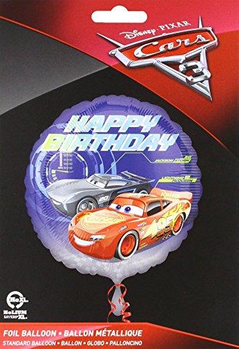 Anagram 35366 Cars 3 Happy Birthday Foil Balloon 18