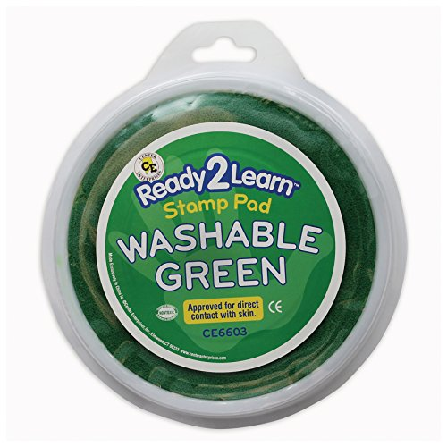 """Center Enterprises CE-6603 Circular Washable Paint/Ink Pad, 0.5"""" Height, 7.1"""" Wide, 7.1"""" Length, Jumbo, Green"""