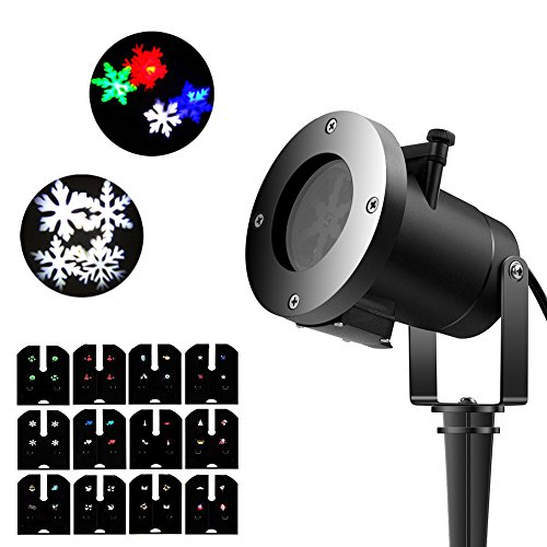 Per Led Projector Lamp Colorful Lights Waterproof Indoors Outdoors Party Decoration With 12pcs Patterns Cards For Halloween Christmas (123 Cards Halloween)