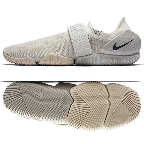 NIKE Aqua Sock 360 QS 902782 100 Oatmeal/Light Bone/Sail/Black Men's Water Shoes (8) by NIKE